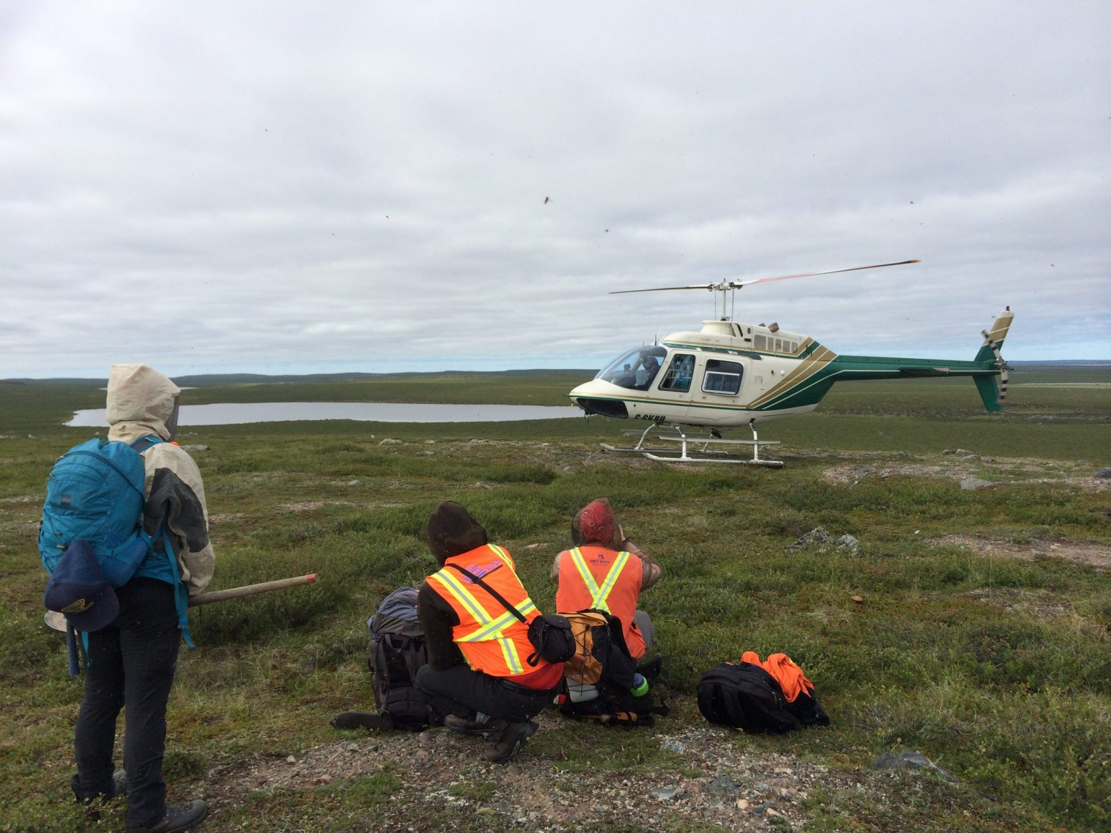 Work In The Field, With Helicopter